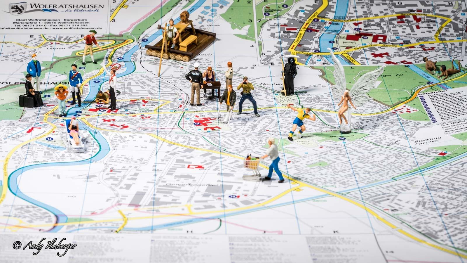 Stadtplan Wolfratshausen Gesamtübersicht