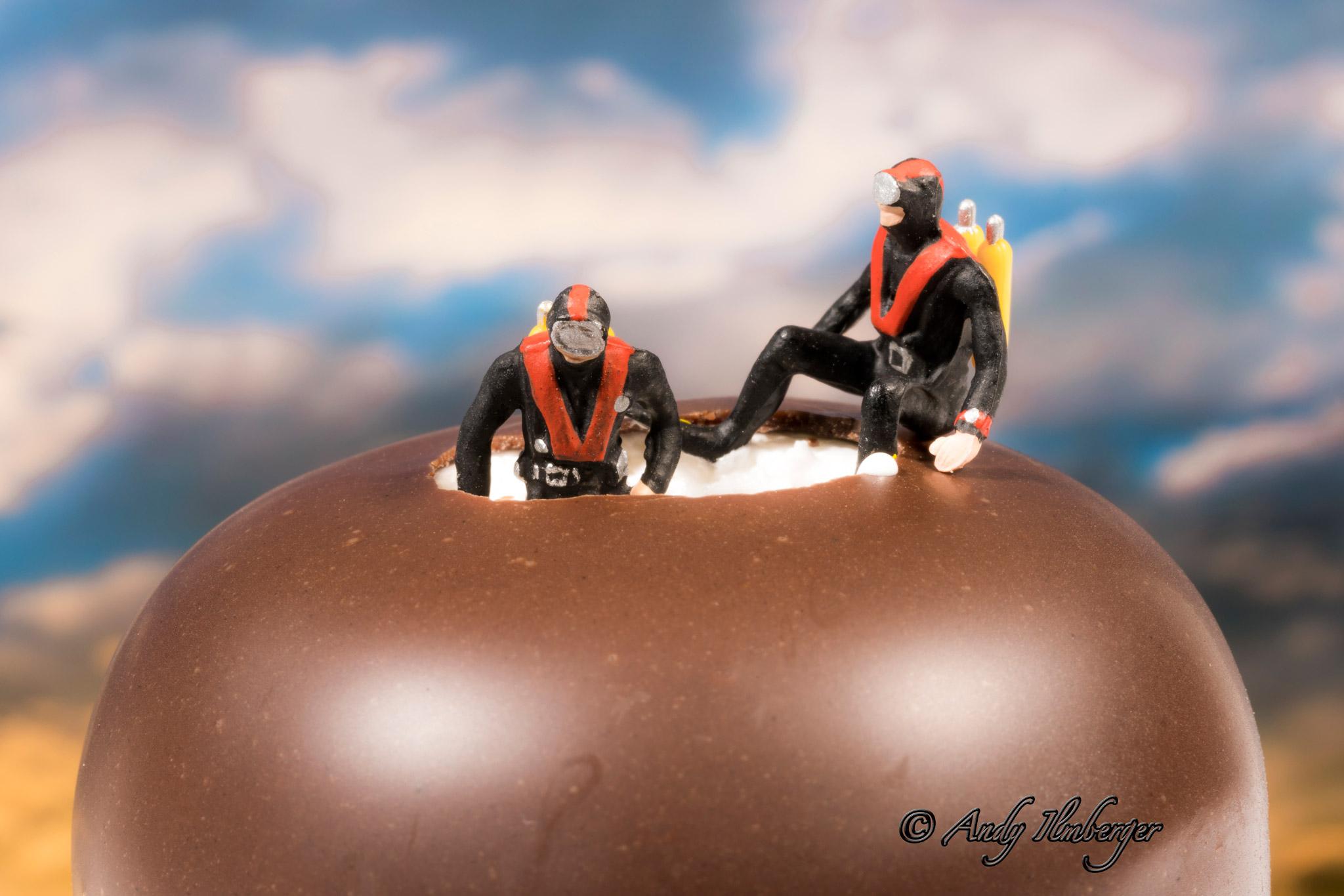 Mohrenkopftaucher - H0-Figuren in Szene gesetzt von © Andy Ilmberger im Kleine-Helden.Club