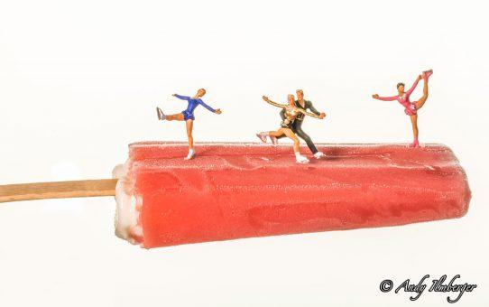 Eiskunstlauf auf Eis am Stil