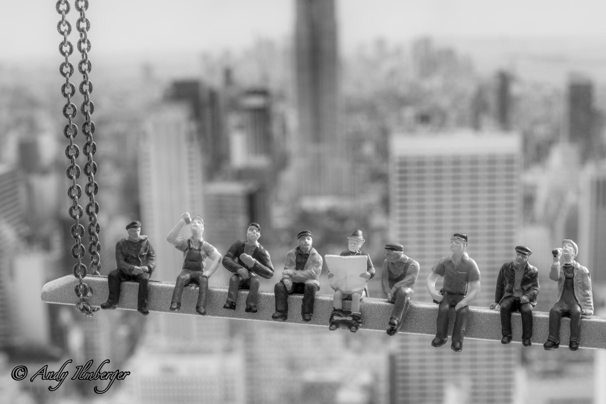 Men at Work in New York - H0-Figuren in Szene gesetzt von © Andy Ilmberger im Kleine-Helden.Club
