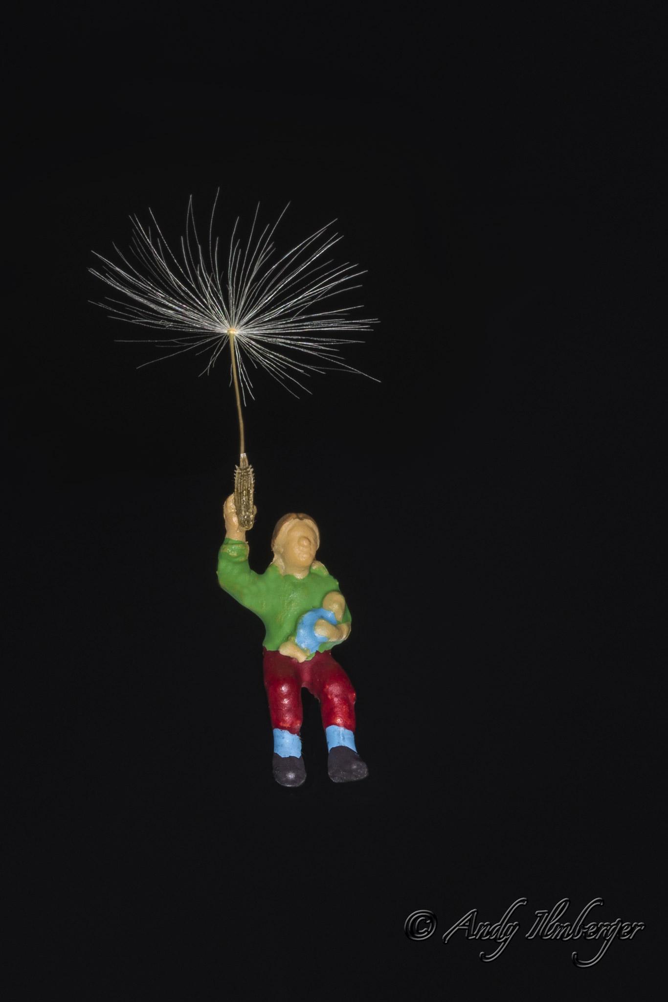 H0-Helden - Pusteblume - H0-Figuren in Szene gesetzt von © Andy Ilmberger im Kleine-Helden.Club