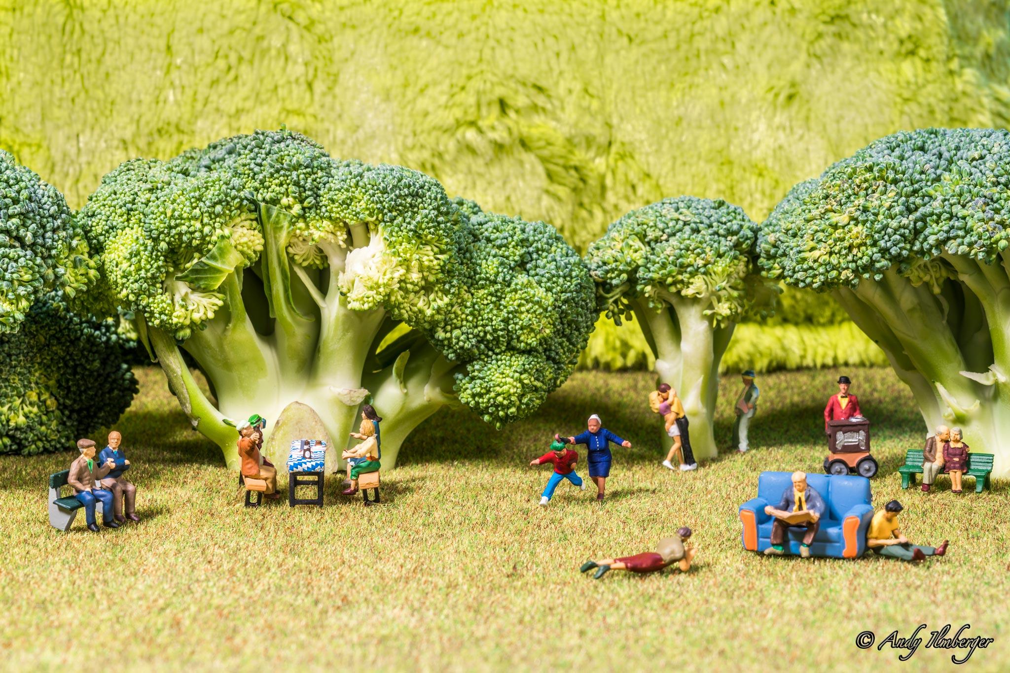 H0-Helden - Frühlingsgefühle im Broccoli-Wald - H0-Figuren in Szene gesetzt von © Andy Ilmberger im Kleine-Helden.Club