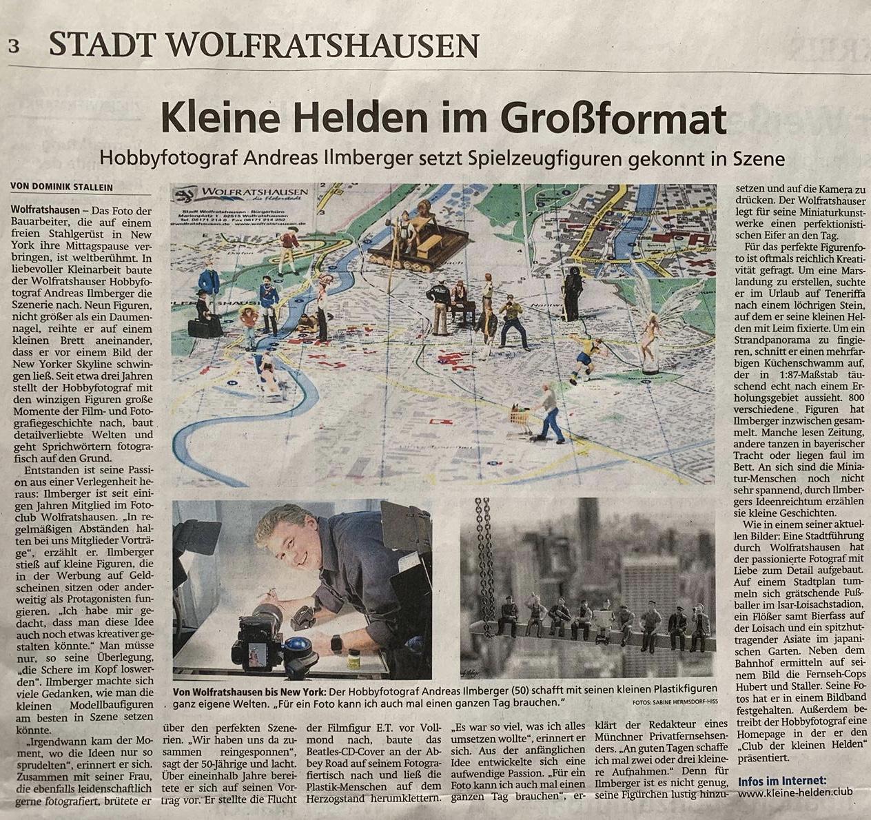Kleine Helden im Großformat - Zeitungsartikel über die Kleine Helden und Andy Ilmberger