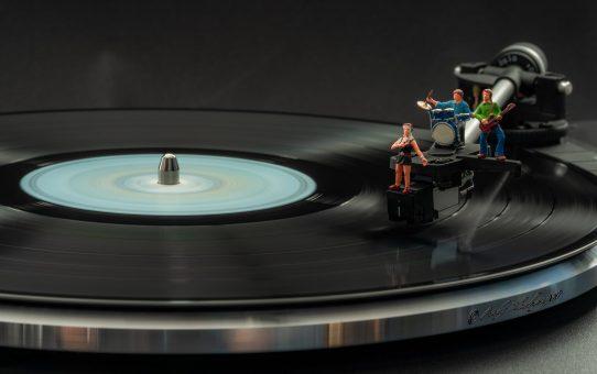 Musik liegt auf dem Teller