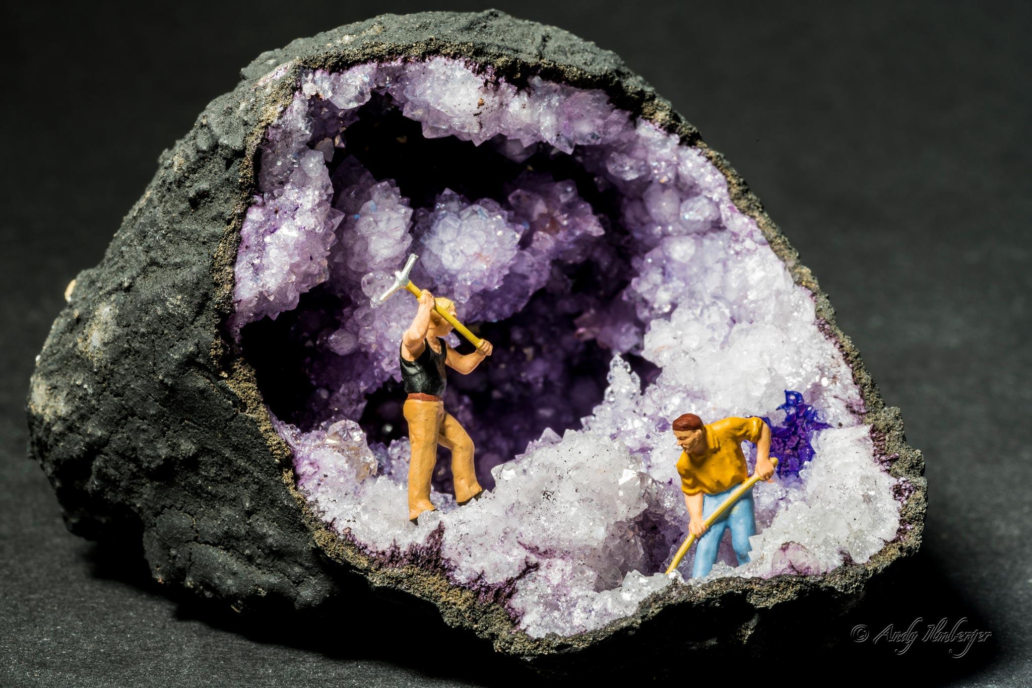 H0-Helden - Kristallbergwerk - H0-Figuren in Szene gesetzt von © Andy Ilmberger im Kleine-Helden.Club