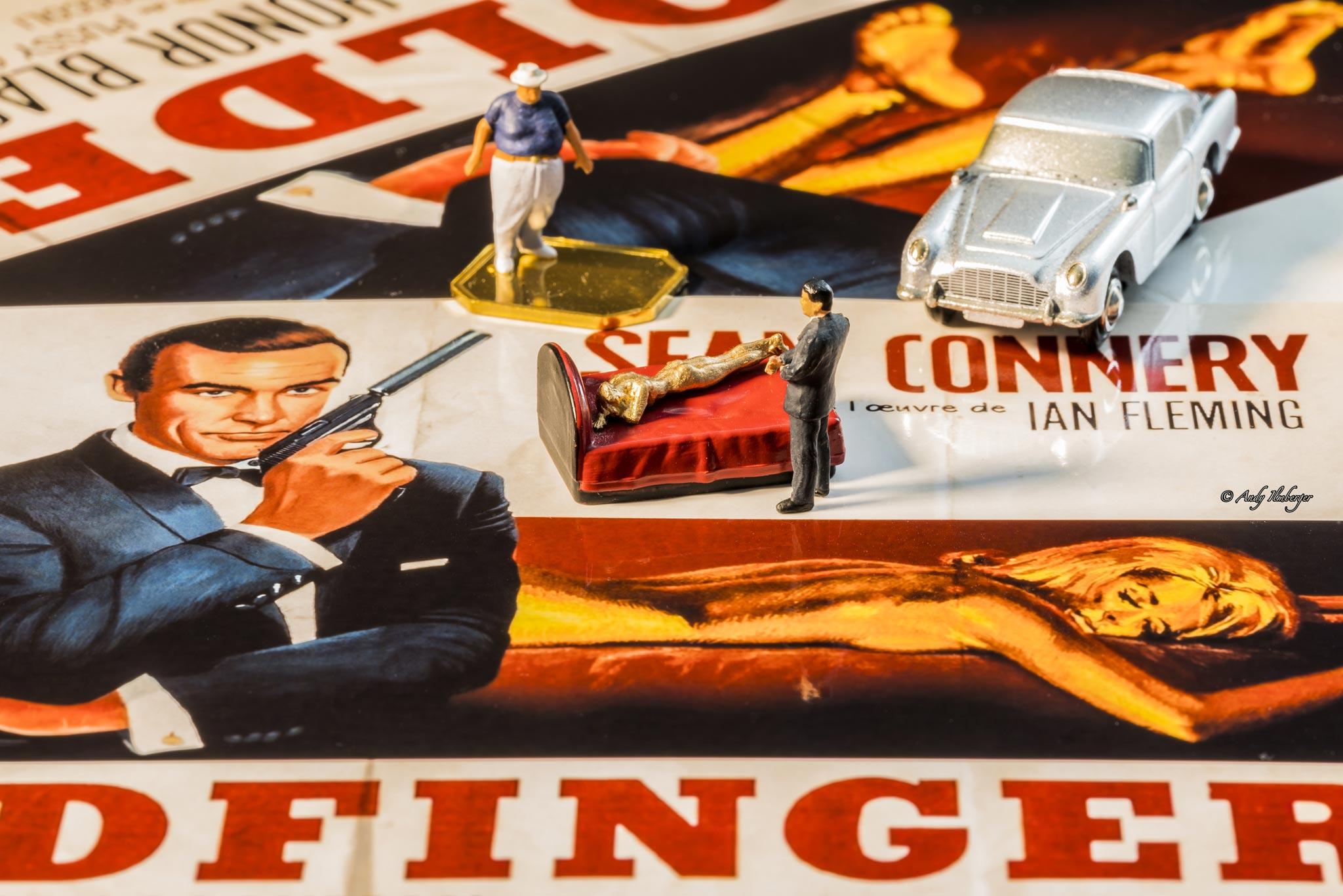 H0-Helden - James Bond 007 Goldfinger - H0-Figuren in Szene gesetzt von © Andy Ilmberger im Kleine-Helden.Club