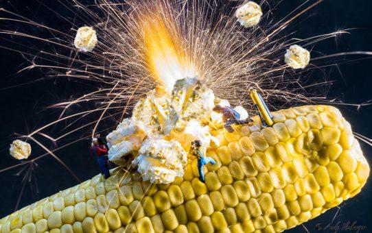 Kleine Helden machen Popcorn