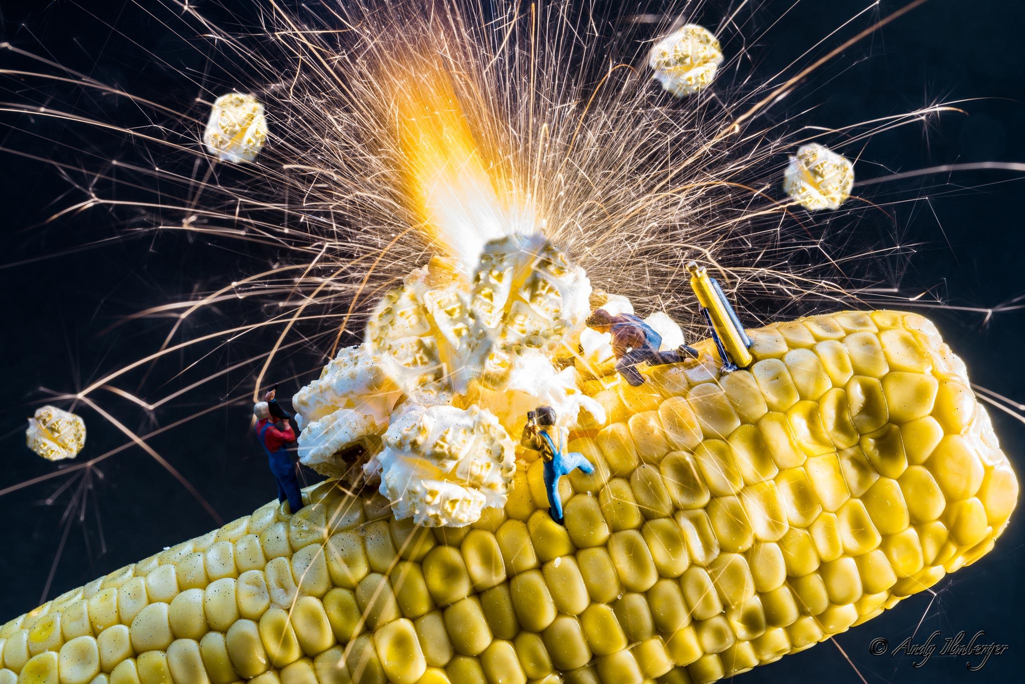 H0-Helden - Popcorn-Maker - H0-Figuren in Szene gesetzt von © Andy Ilmberger im Kleine-Helden.Club
