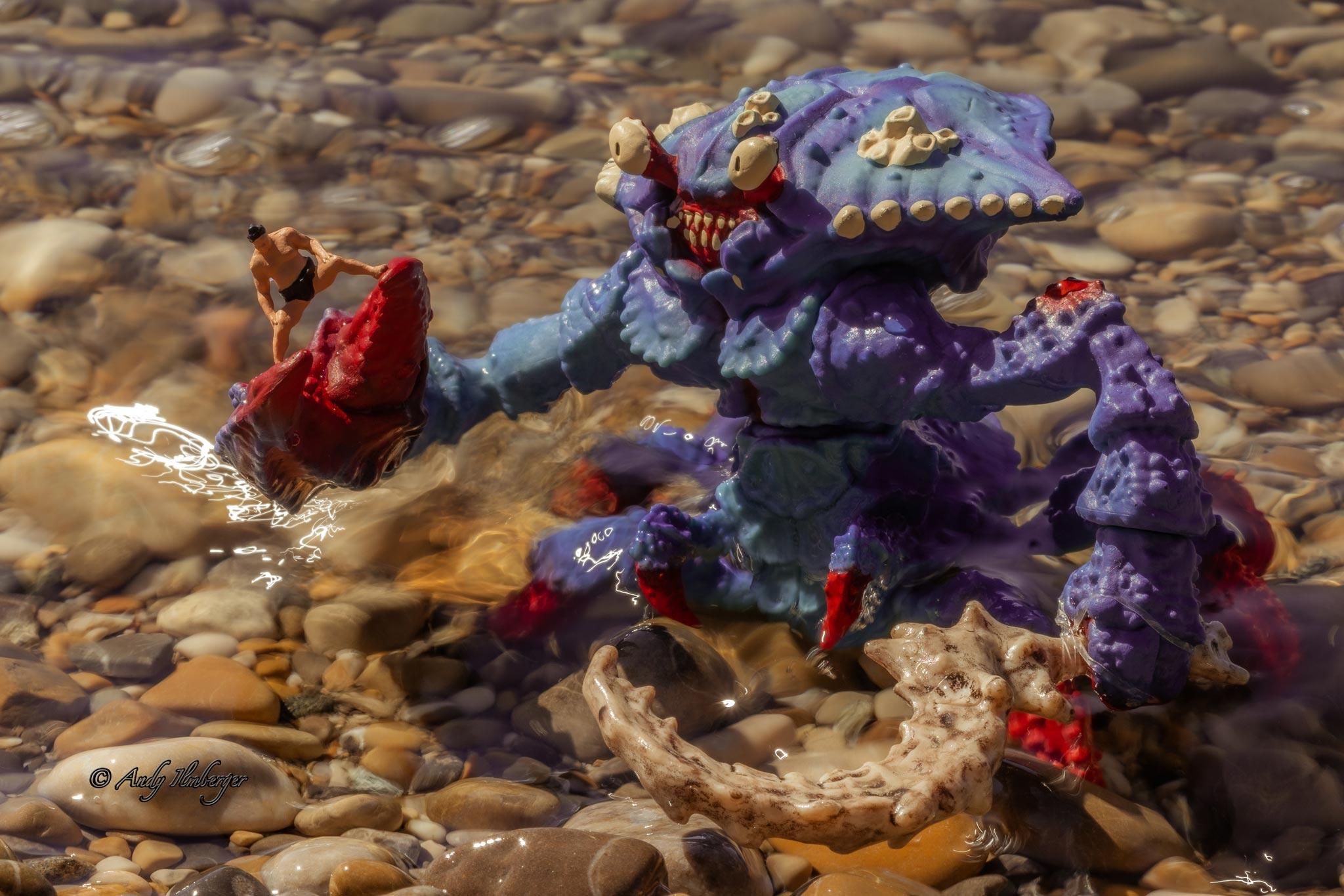 H0-Helden - Monsterkrabbe - H0-Figuren in Szene gesetzt von © Andy Ilmberger im Kleine-Helden.Club